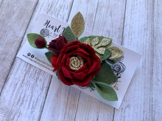 Heartfelt Flower w/ Gold Accent Headband