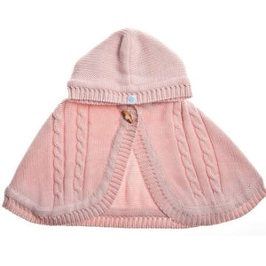 Beba Bean Knit Cape - Pink