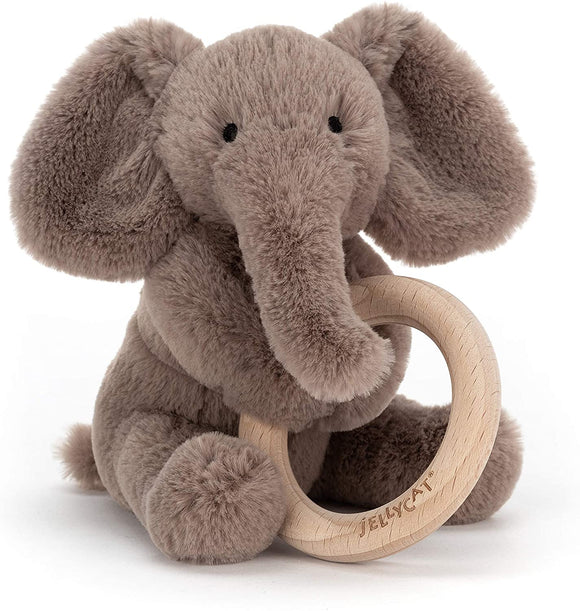 Jellycat Shooshu Wood Ring Elephant