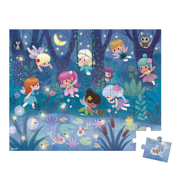 36 pc Puzzle 'Fairies & Waterlilies'