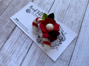 Heartfelt Mini Candy Cane Headband