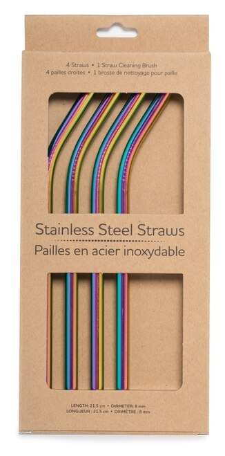 Life Without Waste Steel Straws & Brush