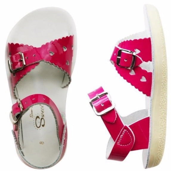 Salt Water Sandals - Sweetheart Shiny Pink