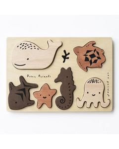 WeeGallery - Wooden Puzzle - ocean animals