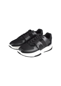 Mallet - Marquess Leather Mix Trainer - 100511 - Black