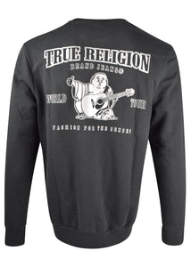 True Religion - Crewneck Reflective Logo Sweatshirt - 100043 - Black