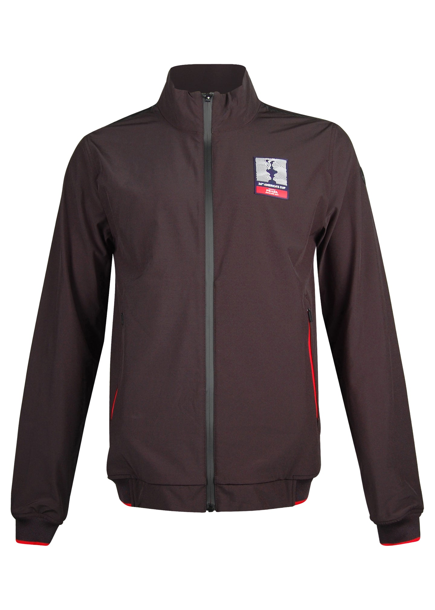 Prada X North Sails - Exclusive 36th America's Cup Collection Zip Through Carbon Detail Jacket - 099535 - Black Red