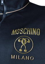 Moschino - Classic Moschino Milano Double Question Mark Chest Logo Gold Piping Jacket - 200038 - Black Gold