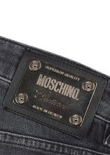 Moschino - Slim Fit Stretch Metal Badge Detail - 100018 - A03127025 - Grey Denim