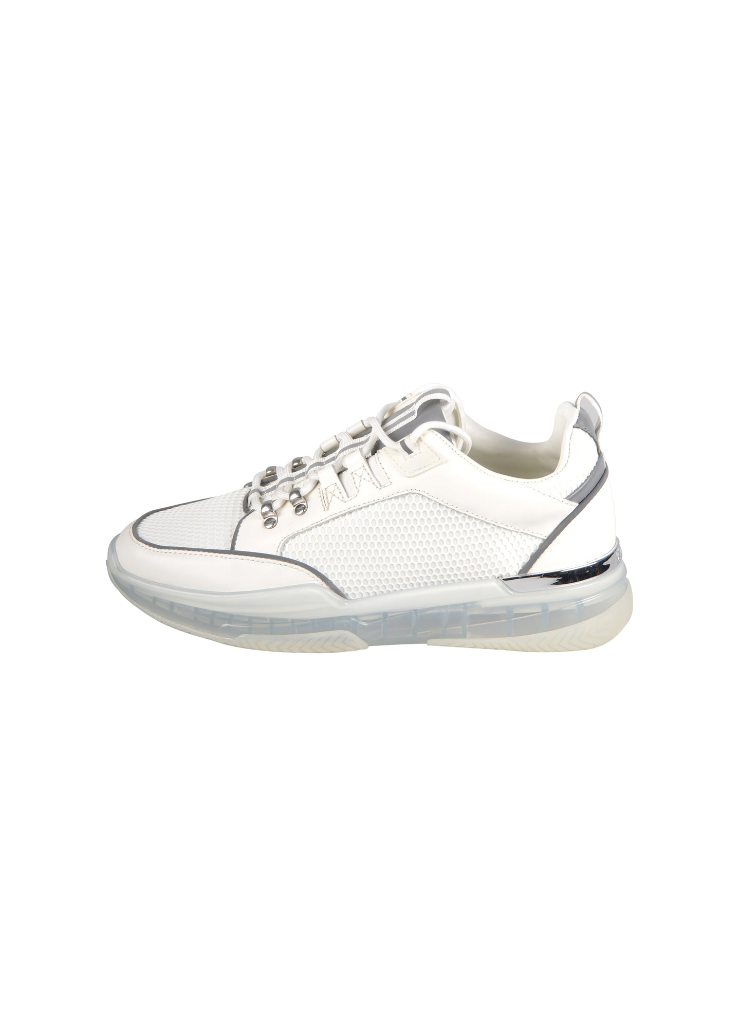 Mallet - Elmore Reflective Trim Clear Sole - 100508 - White