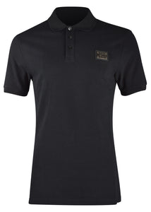 Moschino - Iconic Moschino Couture Metal Badge Polo Shirt - 200021 - Black