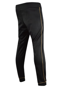 Moschino - Classic Moschino Milano Double Question Mark Leg Logo Gold Piping Joggers - 200039 - Black Gold