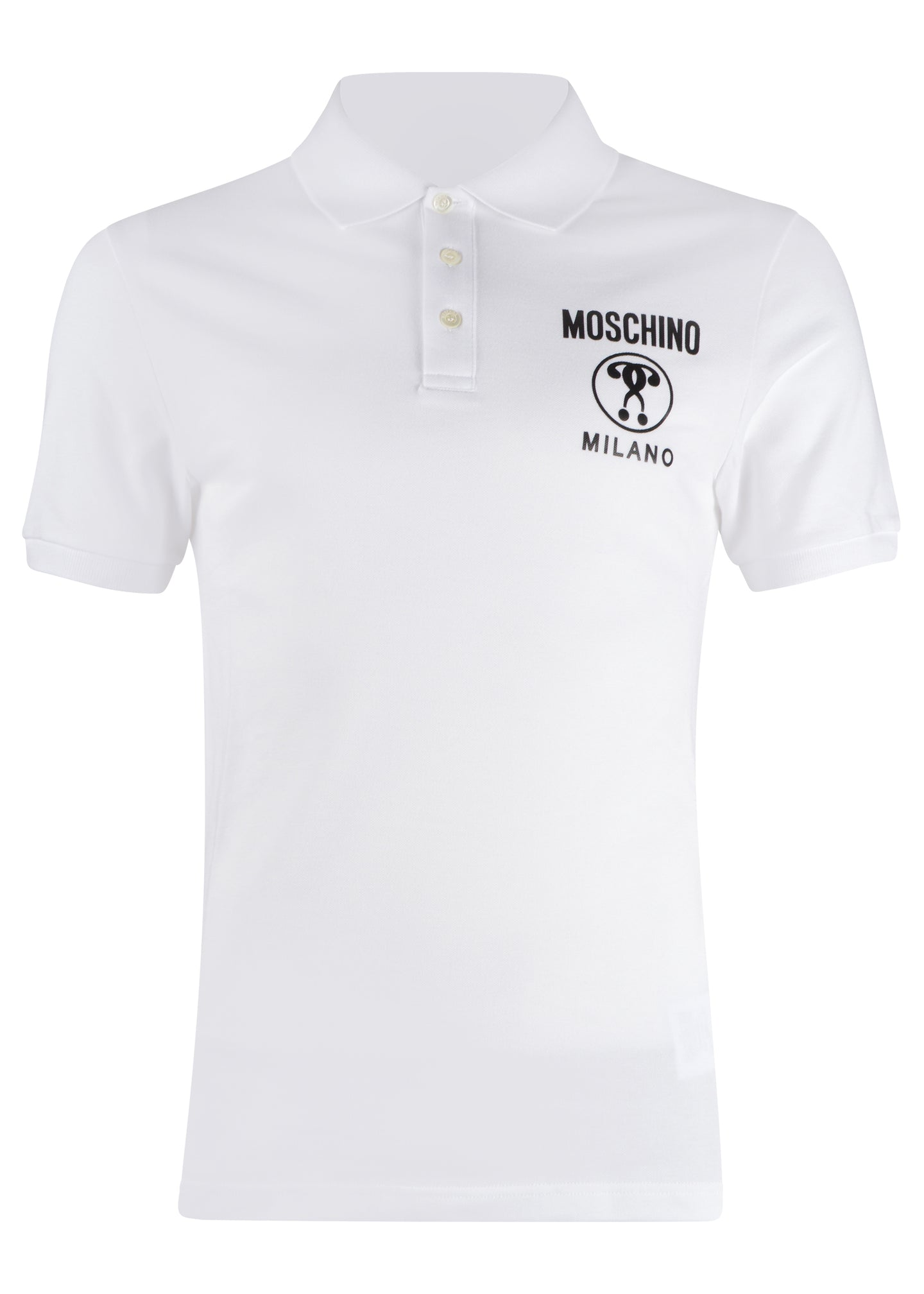 Moschino - Double Question Mark Moschino Couture Milano Polo Shirt - 200029 - White