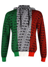 Moschino - Mainline Vintage Moschino Couture Iconic Italian Flag Multilogo Hooded Knit Top - 200024 - Italia