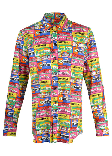 Moschino - All-Over Moschino Bubblegum Logo Shirt - 099118 - Multicoloured