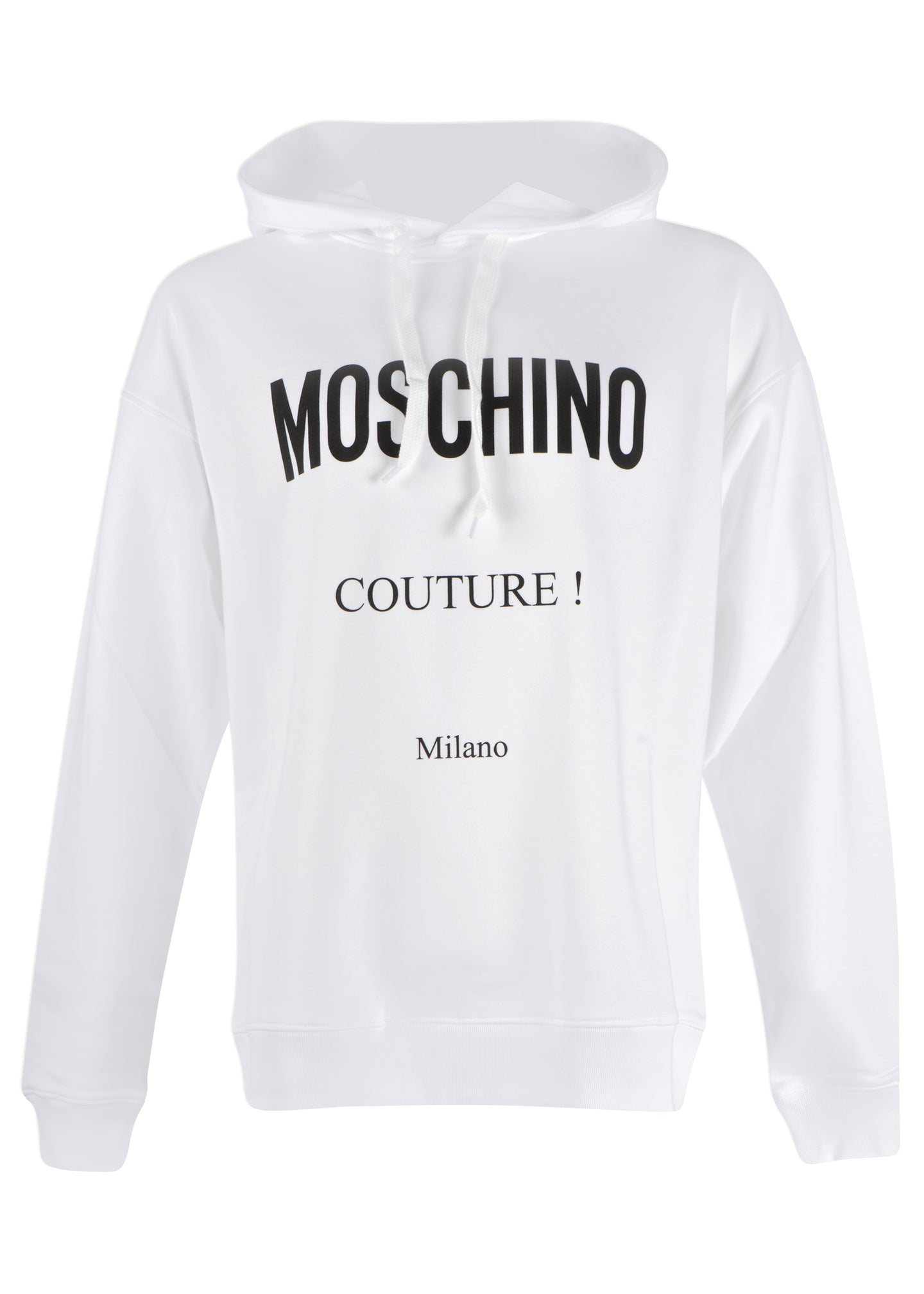 Moschino - Over Head Hooded Oversized Sweatshirt Moschino Couture Milano - 200020 - White