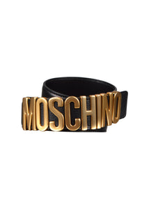 Moschino - Iconic Logo Heavy Buckle - Black Gold