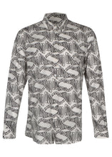 Moschino- Warp Wave All over Print Long Sleeved  Shirt - 100016 - A02187055- White