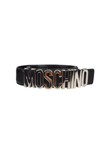Moschino - Iconic Logo Heavy Buckle -Black Silver
