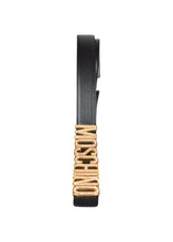 Moschino - Crystal Moschino Gold Letter Belt Girls Love Bling - 099174 - Black