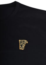 Versace Collection - Classic Long Sleeve Iconic Half Medusa T-Shirt - 097001 - V800491R - Black Gold