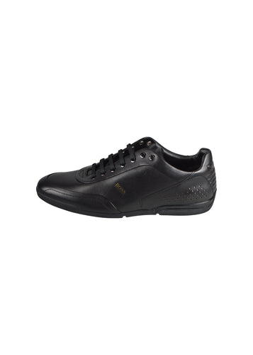 Hugo Boss - Saturn Low Leather Trainer - 100096 - Black