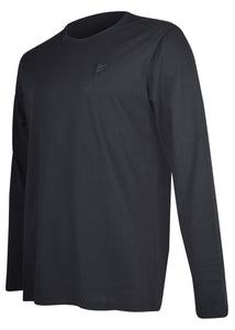 Versace Collection - Classic Long Sleeve Iconic Half Medusa T-Shirt - 097001 - V800491R - Black Black