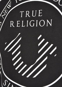 True Religion - Short Sleeved Centre Contrast Lettering On Chest And Back - 200032 - Black