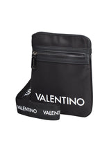 Valentino - Small Cross Body Multi Branded Logo Strap Big Logo Front - Black