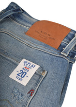 Replay- Five Pocket Slim Fit Aged 20 Years Sustainable cycle Anbass Jeans - 100251 - 709 - Light Wash