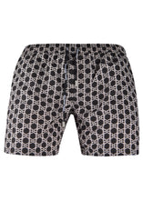 Balmain - Iconic B All Over Print Monogram Swim Shorts - 100163 - BWB64006 - Black