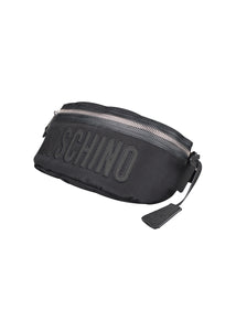 Moschino - Big Logo Quilted Bumbag - A7702 8201 - Black Black
