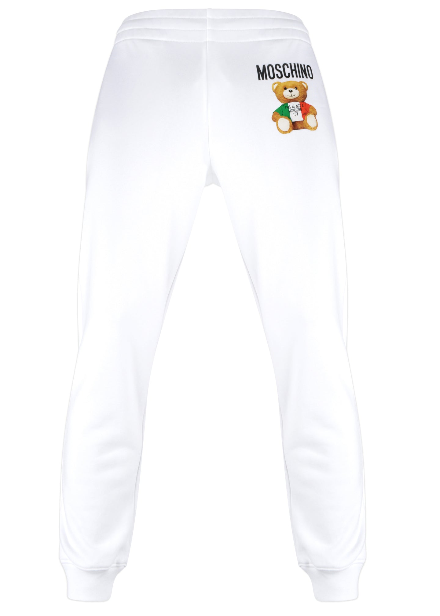 Moschino Couture - Teddy Bear Jogs Hidden Draw String Front Teddy Italia Image On Front Leg - 200001 - White