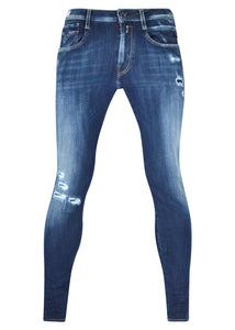 Replay - Rip And Repair Hyperflex Jeans - 100352 - M914Y 661 S32 - Dark Denim