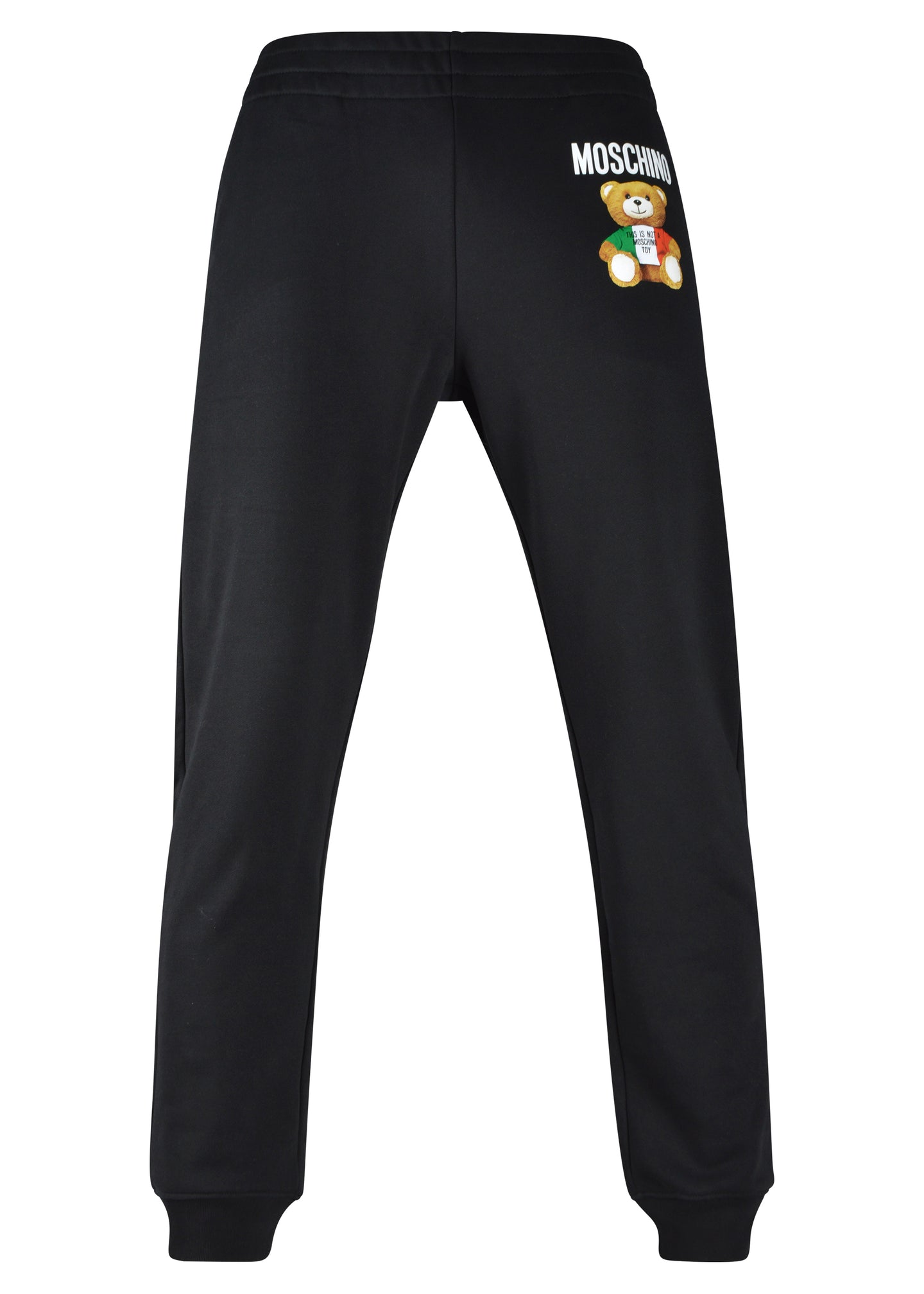 Moschino Couture - Teddy Bear Jogs Hidden Draw String Front Teddy Italia Image On Front Leg - 200001 - Black