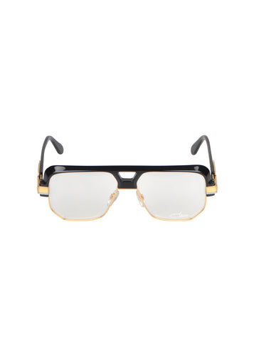 Cazals- Vintage Square Frame Retro  Clear Glasses Legends Sunglasses - 095157 - Black Gold