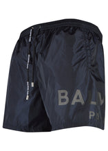 Balmain - Large Contrast Logo on Leg Swim shorts - 100164 - BWB640080 - Navy