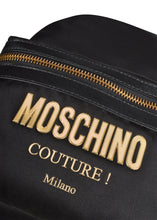Moschino - Backpack Mini Nylon Moschino Shoulder Straps Gold Zips - Black Gold