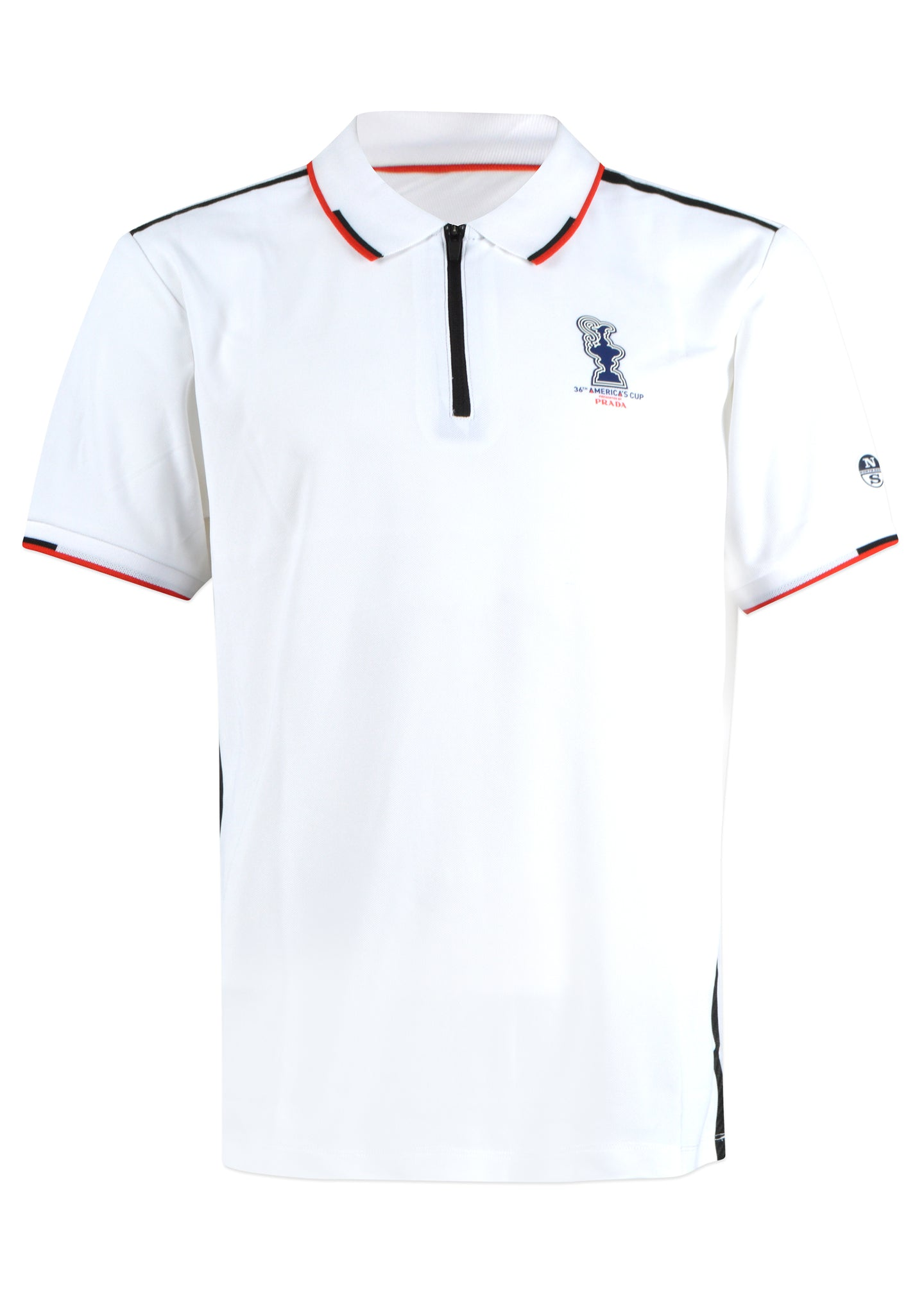 Prada X North Sails - Exclusive 36th America's Cup Zip Polo Shirt - 099541 - White