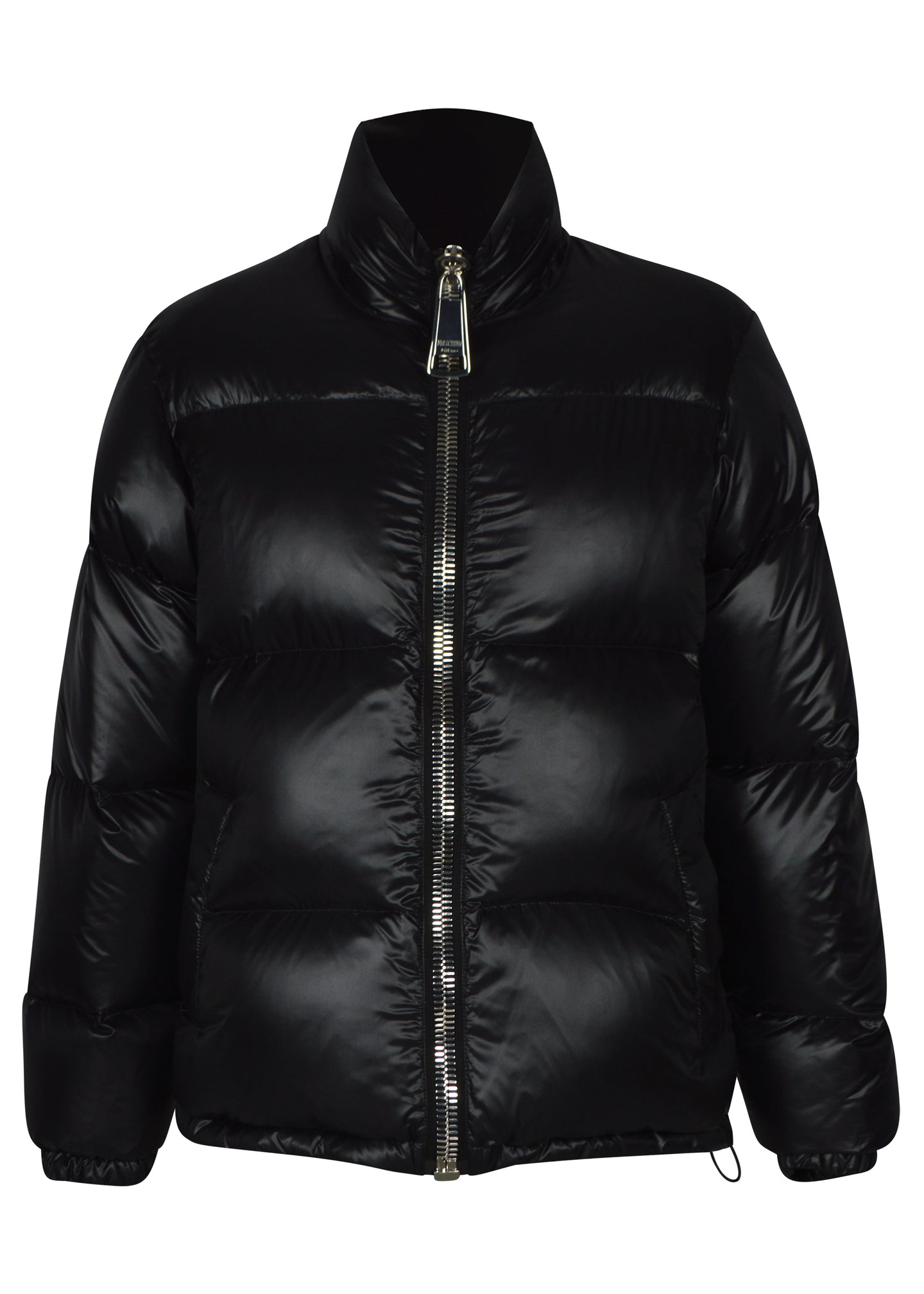 Moschino - Lightweight Shiny Down Puffer MOSCHINO Logo Back - 100107 - A0641 - Black