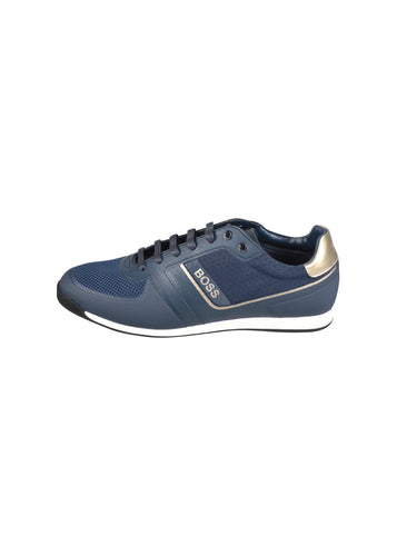 Hugo Boss - Classic Glaze Low Small Logo Trainer - 100098 - Navy Gold