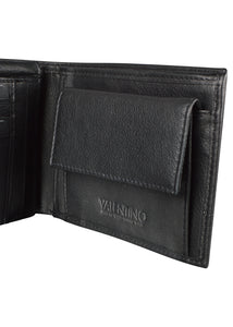 Valentino - Adrian Double Flap Card And Coin Wallet - 200018 - Black