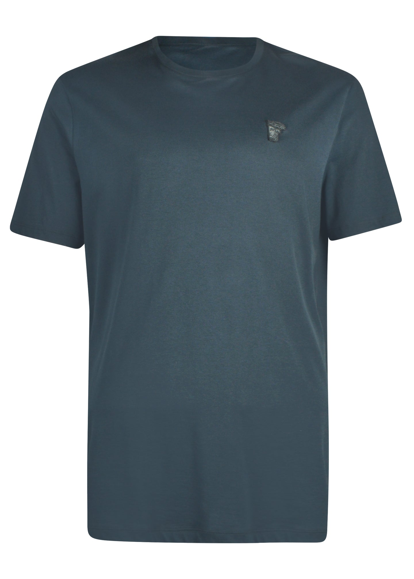Versace Collection - Short Sleeve Iconic Half Medusa T-Shirt - V800683 - Grey