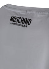Moschino - Crewneck T-Shirt Monochrome Tape Shoulder Detail - 100115 - MA1921 - White
