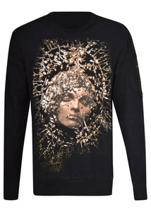 RH45 - LUNA Embellished Lady Sweat - 099416 - Black