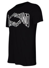 Moschino - Crew Neck T-Shirt Warp Wave Moschino Print - A07027040 - Black
