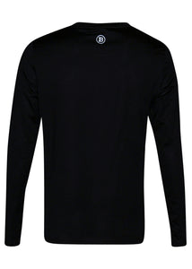Balmain - Long Sleeve Embroidered Balmain Paris on Chest - 100161 - BRM005060 - Black