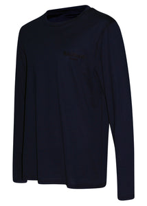 Balmain - Long Sleeve Embroidered Balmain Paris on Chest - 100161 - BRM005060- Navy