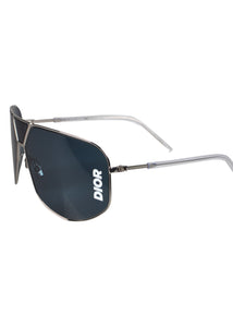 Dior - Ultras Dior Logo On Lens Metal Frames - Grey
