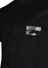 Moschino - Short Sleeve Stretch Fitted Cotton Moschino Silver Logo - 099127 - Black